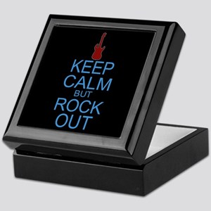 Keep Calm Rock Out Keepsake Box