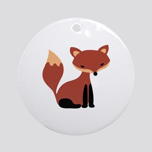 Fox Animal Ornament (Round)