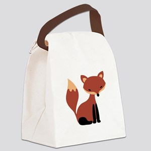 Fox Animal Canvas Lunch Bag