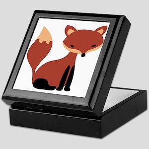 Fox Animal Keepsake Box