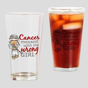 Combat Girl Mesothelioma Drinking Glass