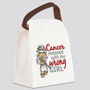 Combat Girl Mesothelioma Canvas Lunch Bag
