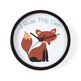 Fox Wall Clocks