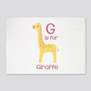 G Is For Giraffe 5'x7'Area Rug
