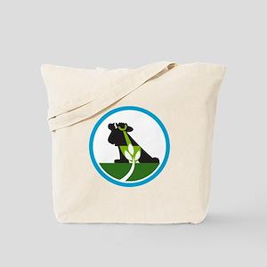 Organic Farmer Shovel Plant Circle Tote Bag