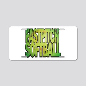 Fastpitch Softball Aluminum Aluminum License Plate