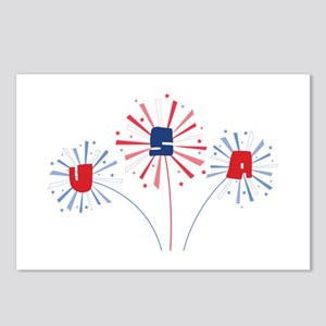July Forth Fireworks U.S.A Postcards (Package of 8