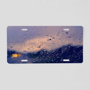 Rainy Drive Aluminum License Plate