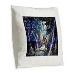 Fairy Burlap Throw Pillow