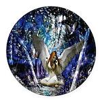 Fairy Round Car Magnet