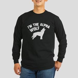 I'm The Alpha Wolf Long Sleeve Dark T-Shirt