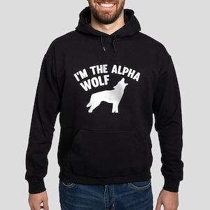 I'm The Alpha Wolf Hoodie (dark)