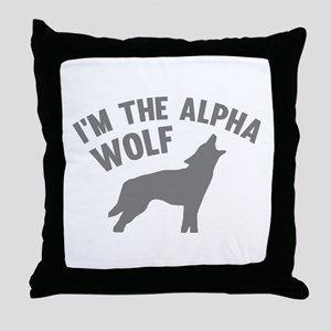 I'm The Alpha Wolf Throw Pillow