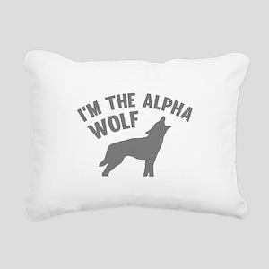 I'm The Alpha Wolf Rectangular Canvas Pillow