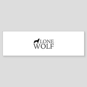 Lone Wolf Sticker (Bumper)
