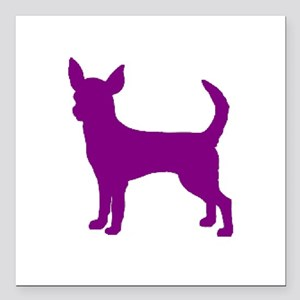 "chihuahua purple 1C Square Car Magnet 3"" x 3"""