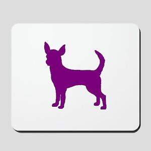 chihuahua purple 1C Mousepad