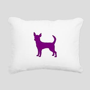 chihuahua purple 1C Rectangular Canvas Pillow