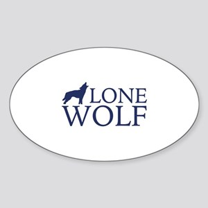 Lone Wolf Sticker (Oval)