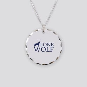 Lone Wolf Necklace Circle Charm