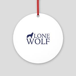 Lone Wolf Ornament (Round)