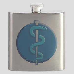 aesculapian snake doctor, nurse etc. Flask