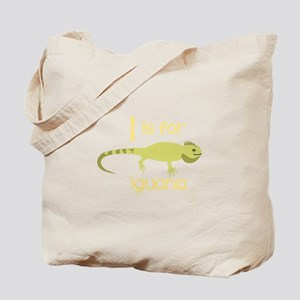 I Is For Iguana Tote Bag