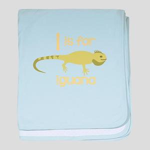 I Is For Iguana baby blanket
