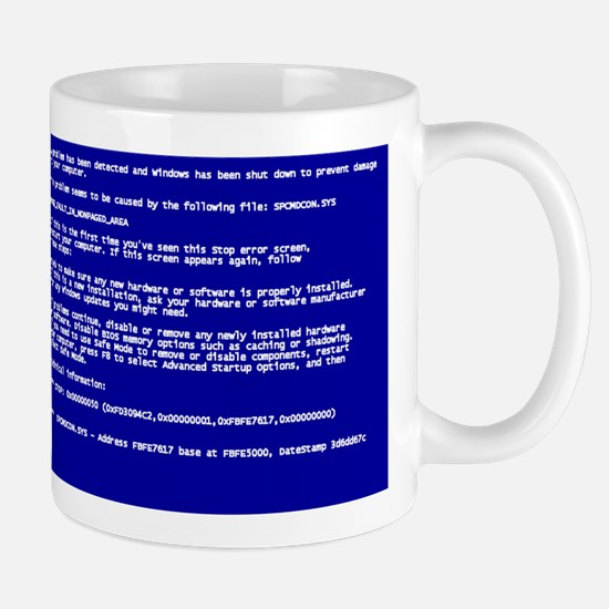 Blue Screen of Death Mugs