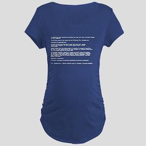 Blue Screen of Death Maternity T-Shirt