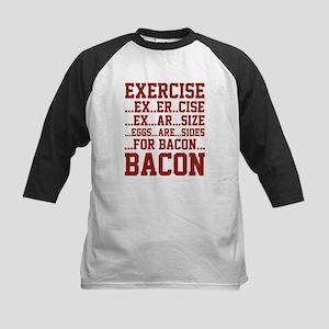 Exercise Bacon Kids Baseball Jersey