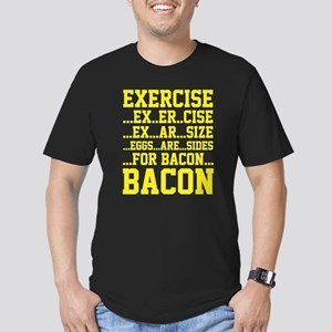 Exercise Bacon Men's Fitted T-Shirt (dark)
