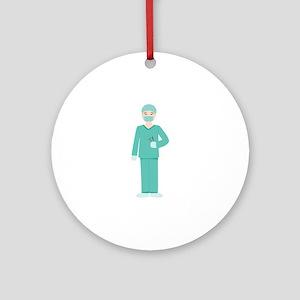 Male Surgeon Ornament (Round)