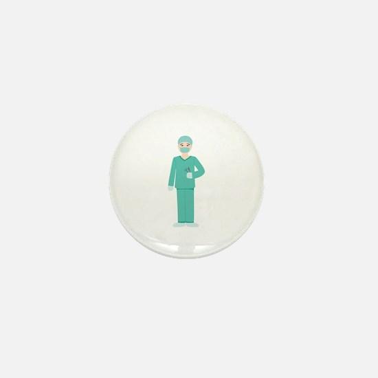 Male Surgeon Mini Button