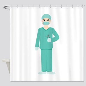 Male Surgeon Shower Curtain