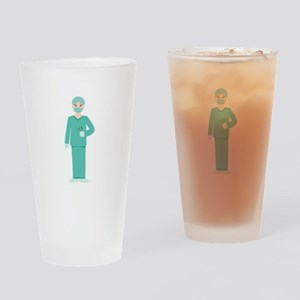 Male Surgeon Drinking Glass