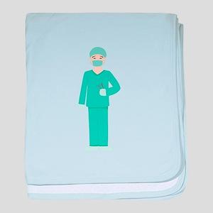 Male Surgeon baby blanket