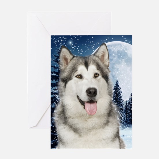 Malamute Christmas Greeting Card