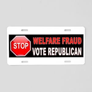 Welfare Fraud Bumper Aluminum License Plate