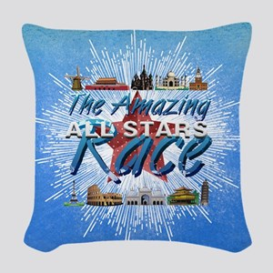 Amazing Race Woven Throw Pillow
