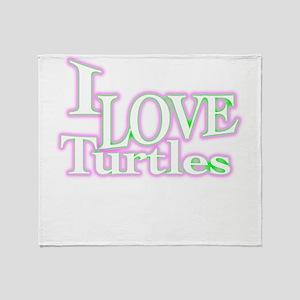 love turtles Throw Blanket