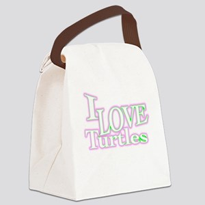 love turtles Canvas Lunch Bag