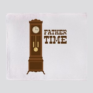 Father Time Throw Blanket