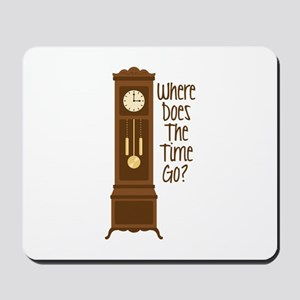 Where Does The Time Go? Mousepad