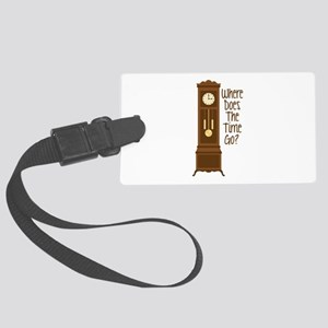 Where Does The Time Go? Luggage Tag