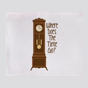 Where Does The Time Go? Throw Blanket
