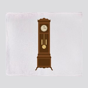 Antique Wall Clock Throw Blanket
