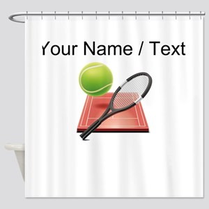 Custom Tennis Icon Shower Curtain
