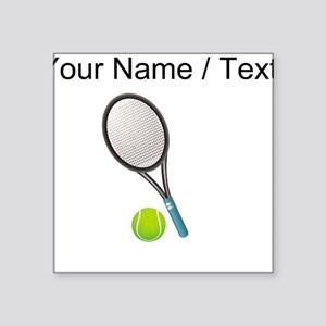Custom Tennis Racket And Ball Sticker