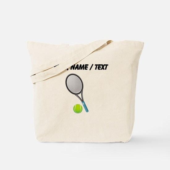 Custom Tennis Racket And Ball Tote Bag